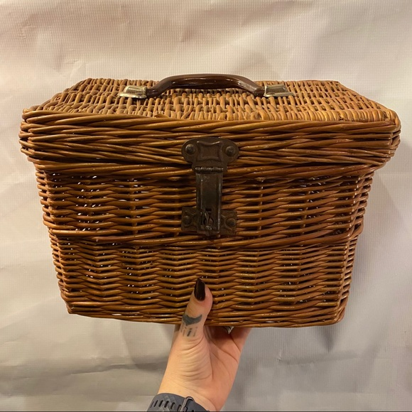Vintage Wicker Box Basket